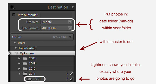 Organize by Date in Lightroom