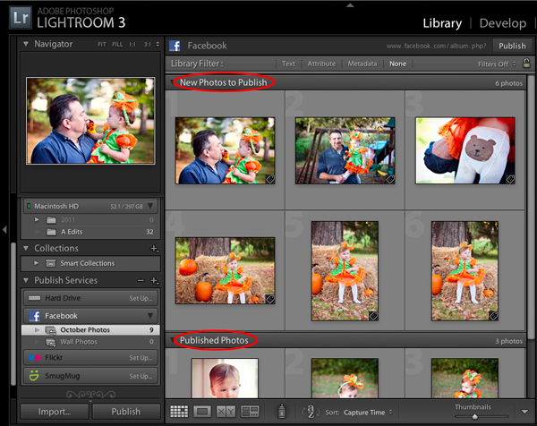 Add additional photos to your published albums
