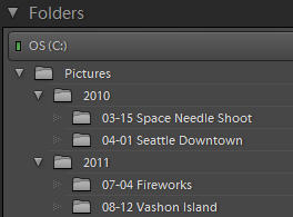Simple Lightroom Folder Structure