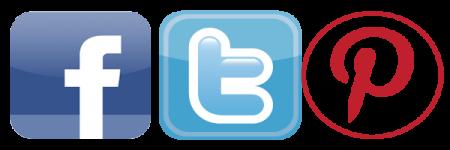facebook twitter pinterest logos