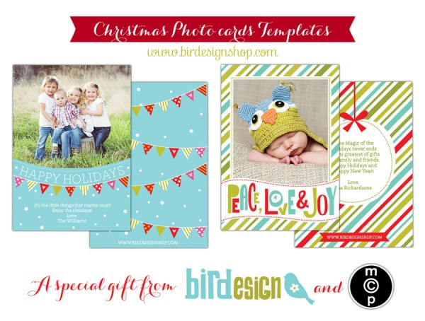 Free Holiday Card Template For Photographers Download Now - Free christmas card templates for photographers