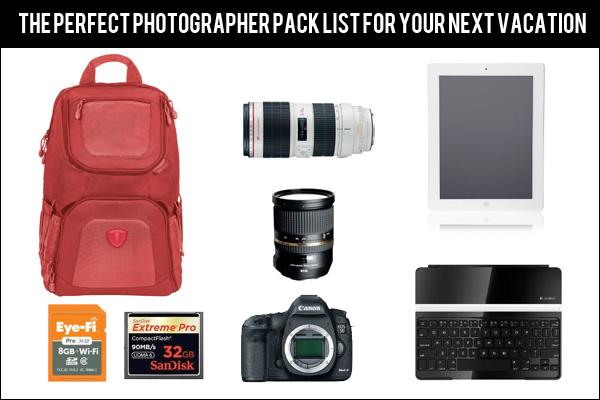 photographer pack list