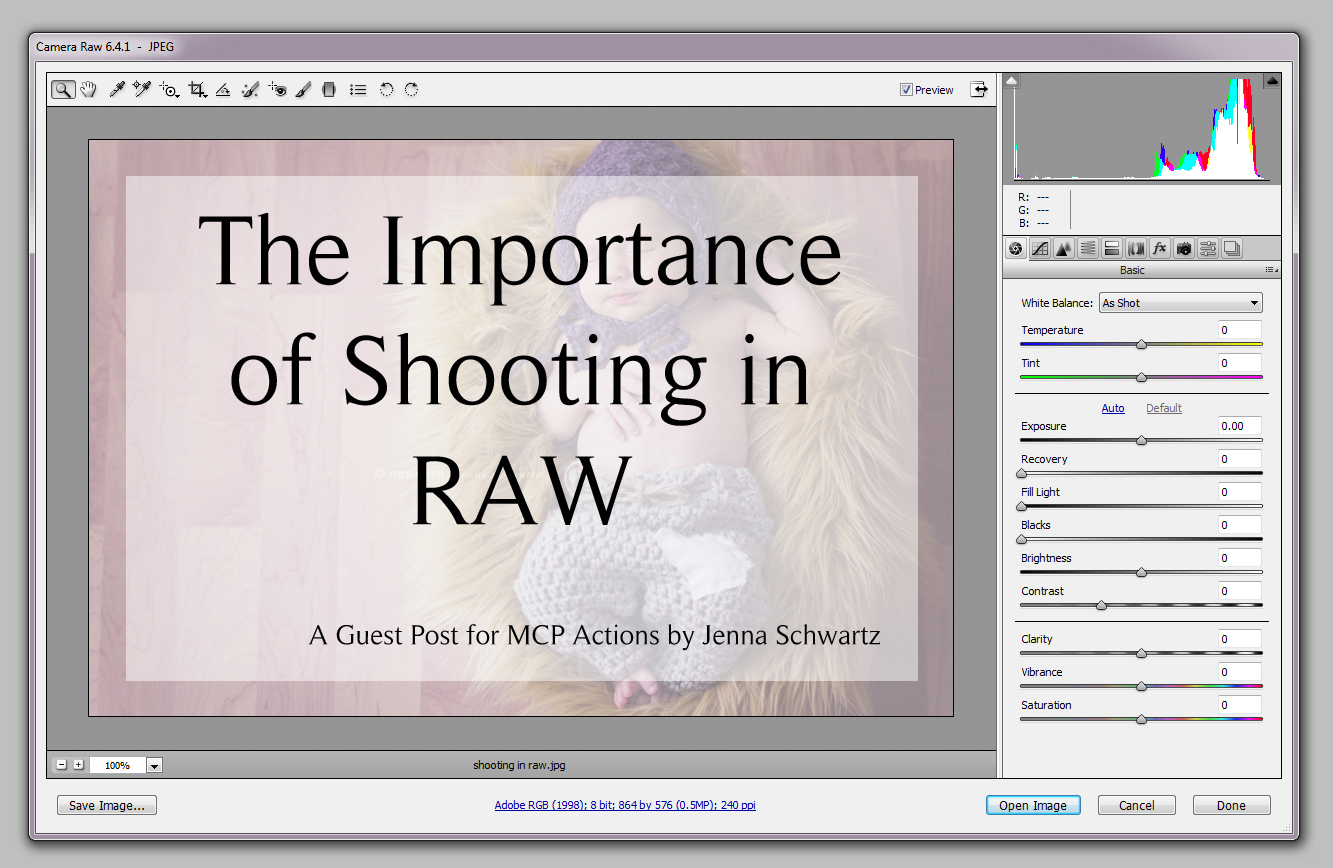 shooting in raw1