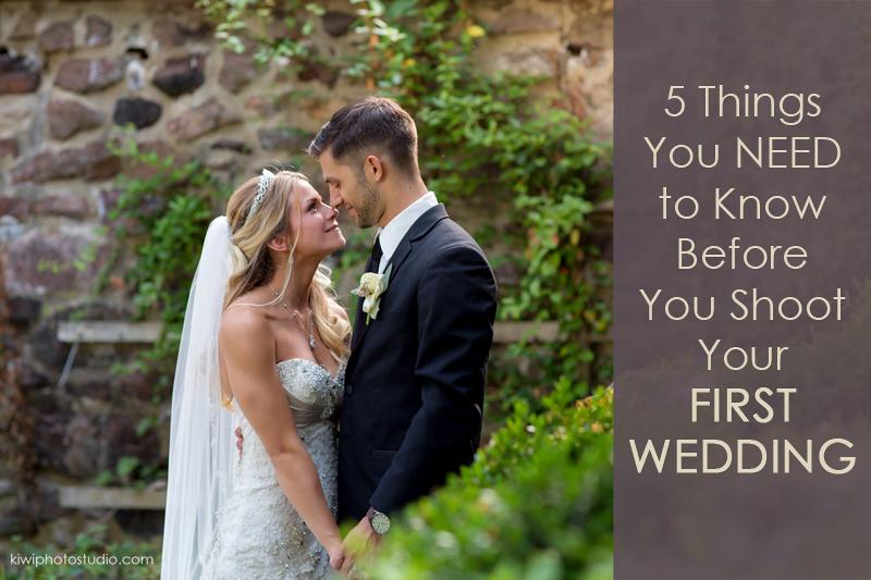 first time shooting wedding