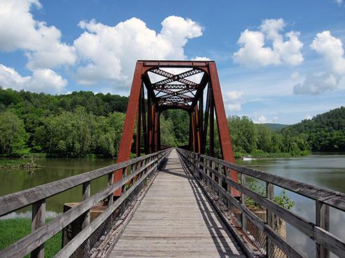 Rails-to-Trails bridge