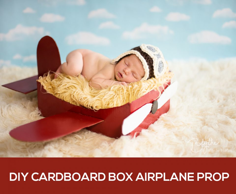 Make a diy box airplane prop for newborn photography mcp diy cardboard airplane prop solutioingenieria Image collections