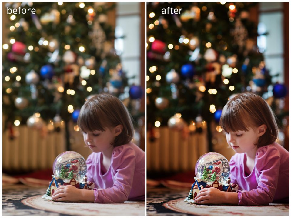 How to get a great shot in front of the Christmas Tree