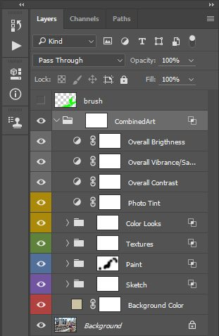 Photoshop Layers Adjustment