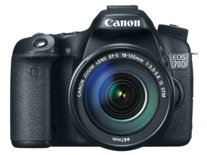 Canon EOS 70D front view