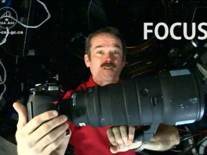 Chris Hadfield's Nikkon 400 mm lens
