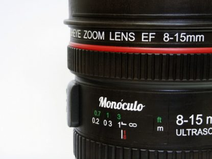Mónoculo stool Canon 8-15mm fisheye lens