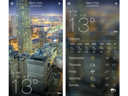 Download Yahoo Weather for iPhone