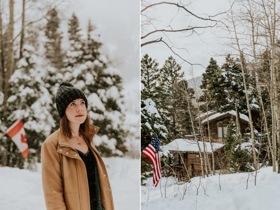 winter usa shot