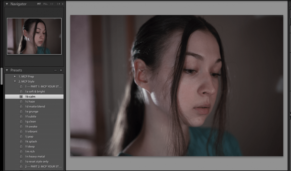 desaturate the model's skin in lightroom