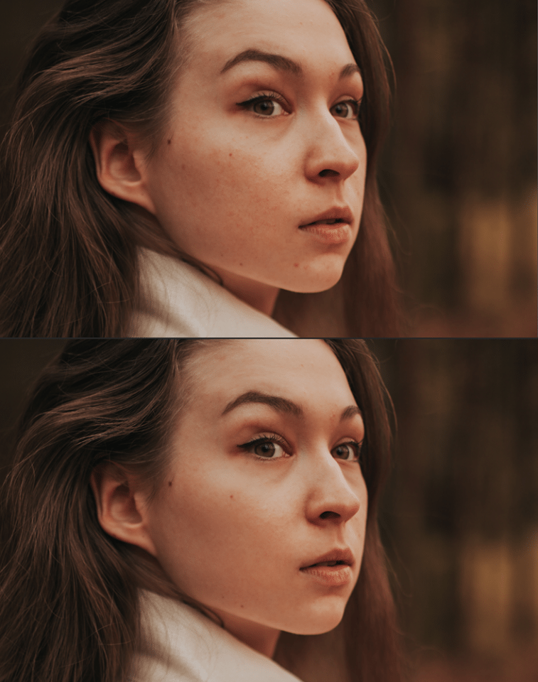 Before / After Portrait Frequency Separation