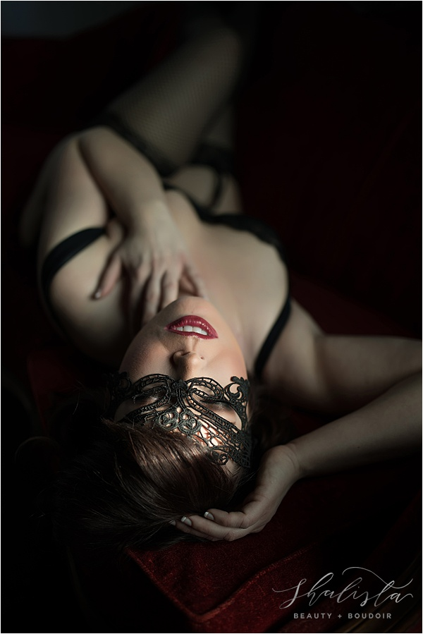 Shalista Photography Boudoir with mask